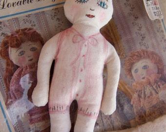 1981 unfinished stuffed doll