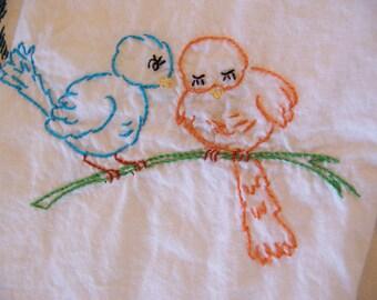 birds in the springtime towel