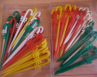 colorful plastic  party sticks
