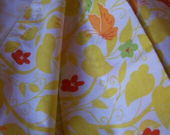yellow with butterflies double flat sheet
