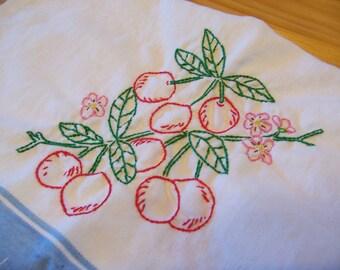 cherry cherries kitchen towel