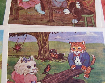 james de musz kitty postcards