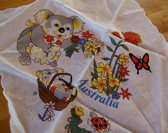 australia koala bear handkerchief