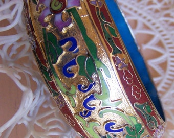 vintage enameled bangle bracelet