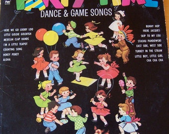 party time dance and game songs vinyl