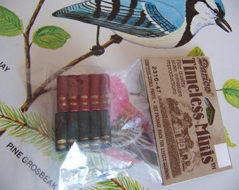 wee miniature wooden books