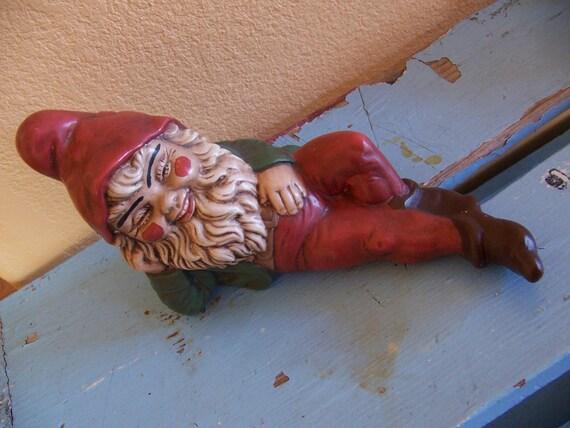 resting ceramic gnome