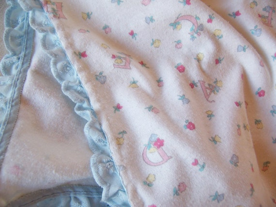 soft vintage baby  blanket