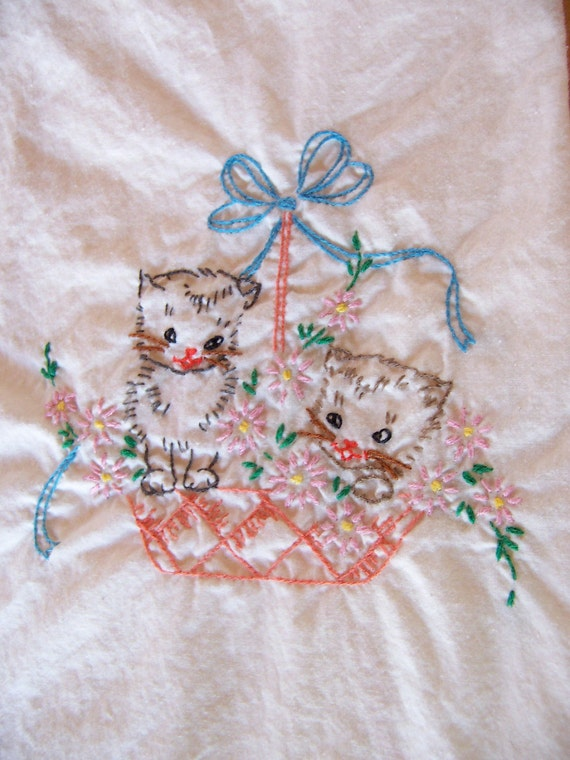 kitty love by the basket towel