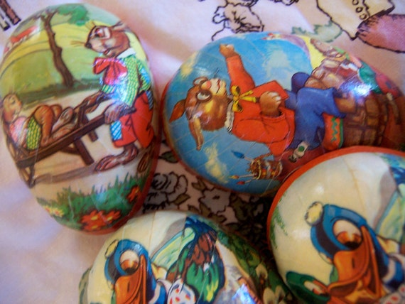 paper mache  eggs from western germany