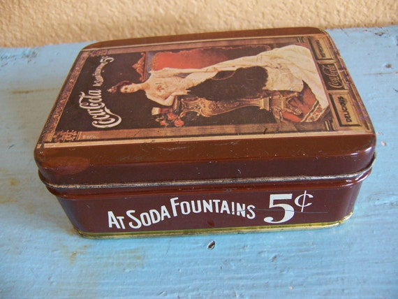 little coca cola 5 cent tin