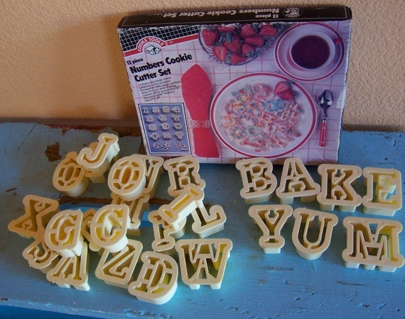 cooks tools alphabet and numbers cookie cutter sets
