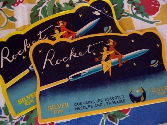vintage rocket needle books