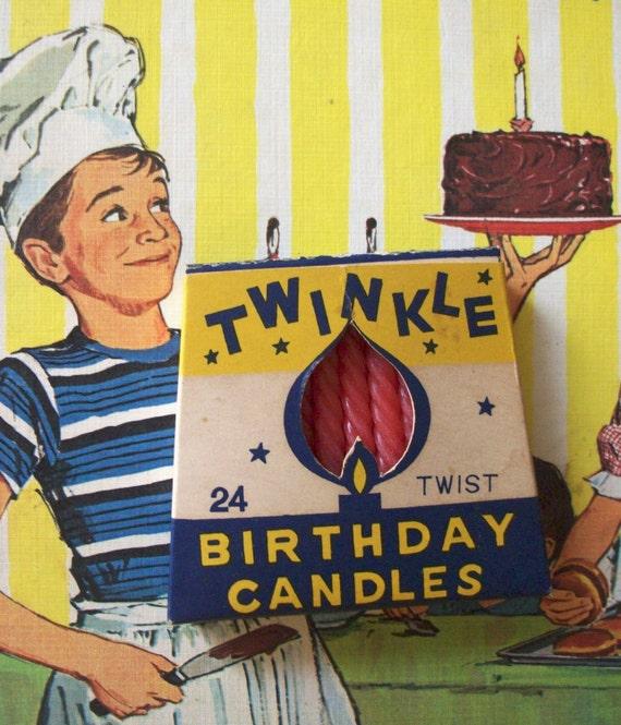 Vintage Birthday Candles 10