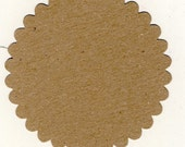 Scallop Chipboard Circle