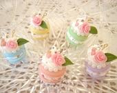 5pcs---Princess Macaroon Cake---Rose---Swarovski---Pearl---Charms