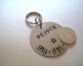 Silver Pet ID Tag - Dog tag - Pet Tag - Cat Tag - ID Tag - Pet ID Tag