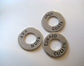 Personalized Hand Stamped Washer