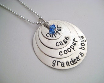 4 Tier Personalized Sterling Silver Necklace