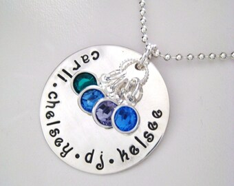 Personalized Name Necklace - Large Hand Stamped