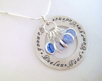Personalized Sterling Silver Large Eternity Necklace