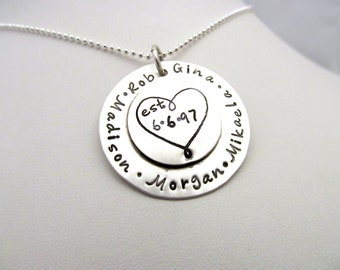 Heart - Personalized Sterling Silver Soldered Necklace