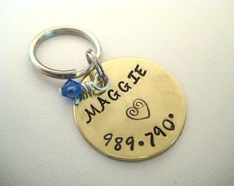Pet ID Tag - Brass - Dog tag - Pet Tag - Cat Tag - ID Tag - Pet ID Tag
