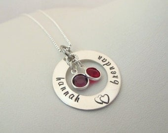 Personalized Sterling Silver Medium Eternity Necklace
