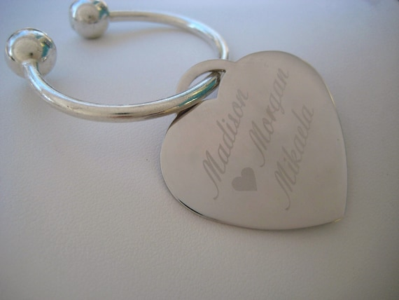 PERSONALIZED PHOTO AND NAME ETCHED ENGRAVED KEY CHAIN
