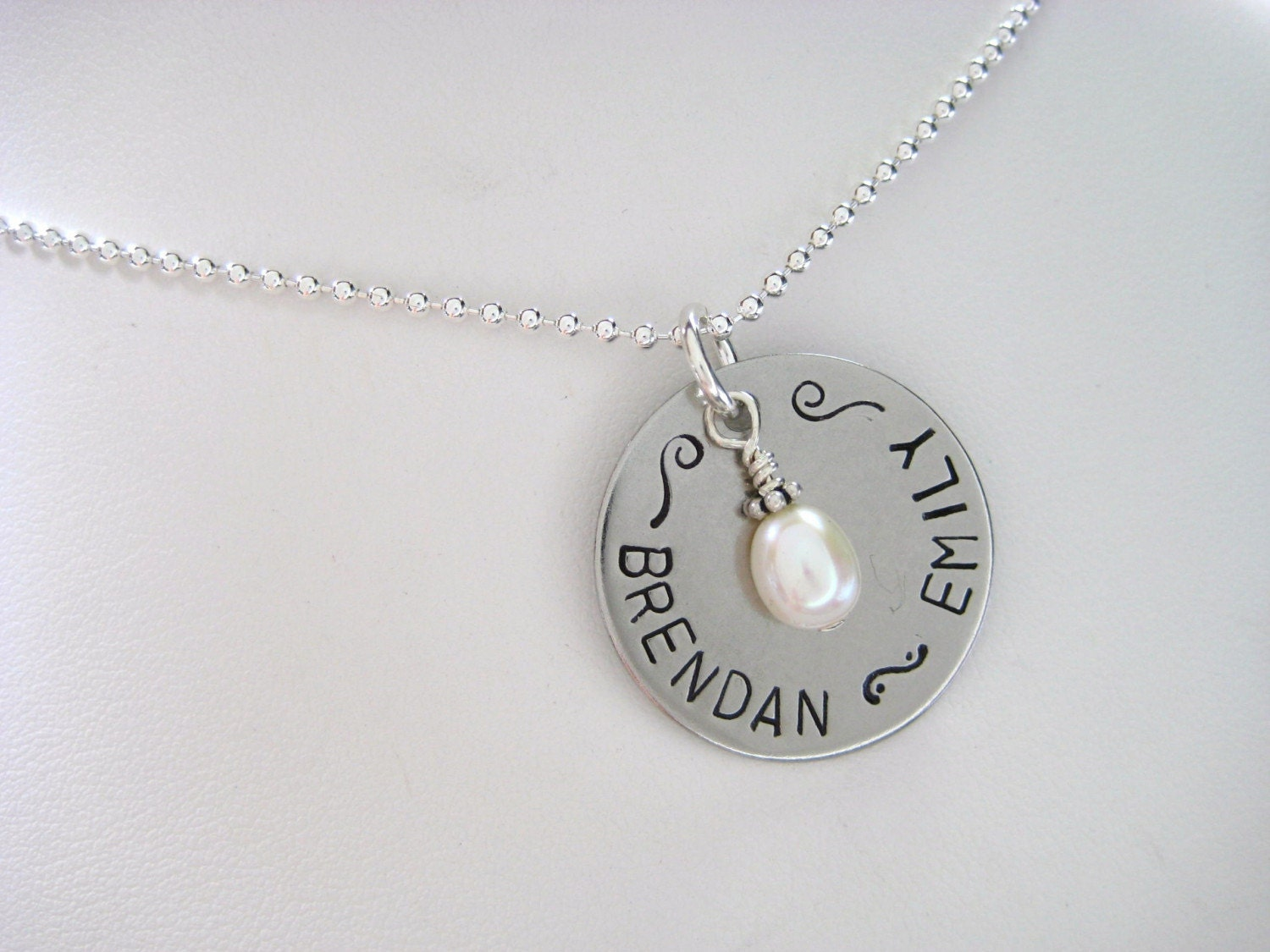 Hand stamped washer necklace for How do you make hand stamped jewelry