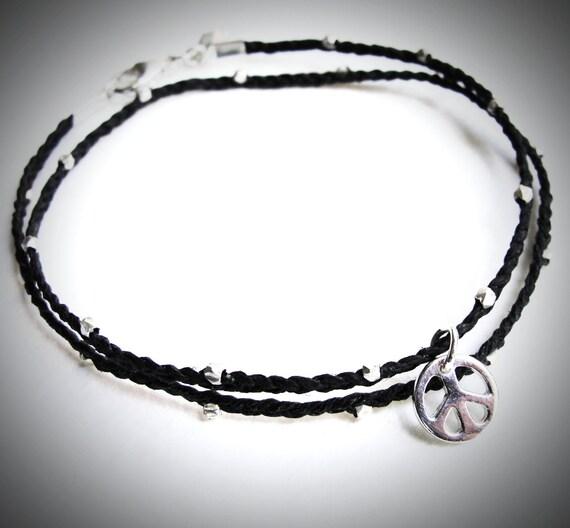 LAST ONE - Sterling Peace Wrap bracelet