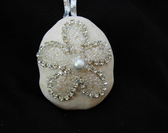 Swarovski Crstal Embellished Beach Christmas-Sea Biscuit Ornament-Free Shipping