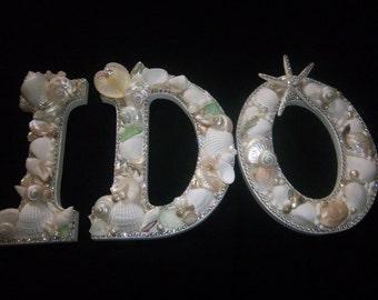 Beach Decor-I DO-Shell-Embellished Letters-Large