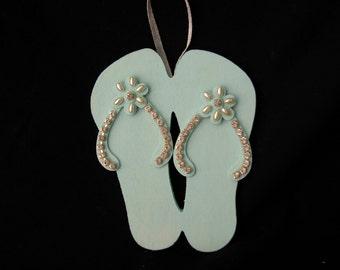 BEACH DECOR-Hawaiian Flip Flops Ornament