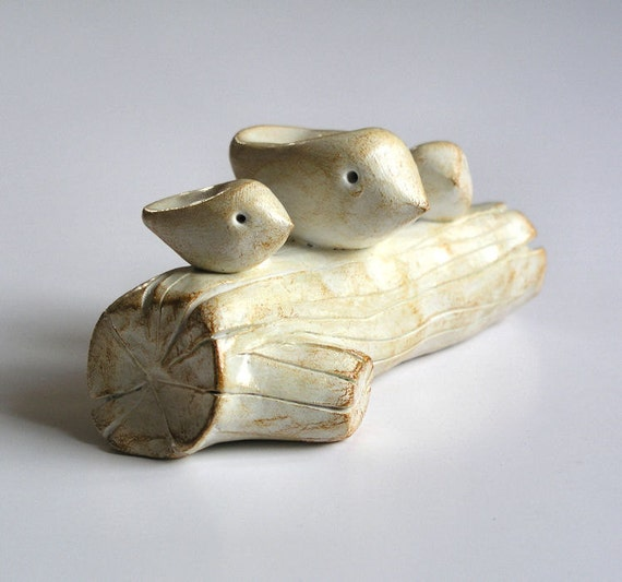 Gifts for mom / gift for grandma / clay sculpture of Family / small family / single mom dad family / three birds art