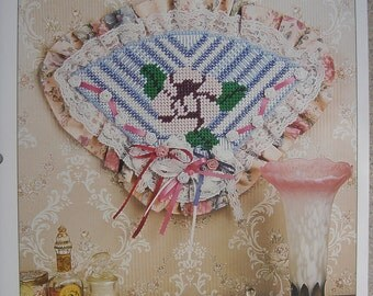 Victorian Fan Plastic Canvas Pattern Wall Hanging with Free Shipping