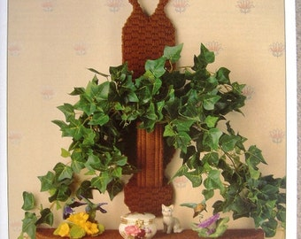 Decorative Duo Plastic Canvas Pattern with Free Shipping Shelf and Plant Holder