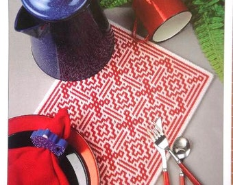 Country Crossings Place Mat Plastic Canvas Pattern with Free Shipping Placemat