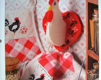 Chicken Towel Holder Plastic Canvas Pattern with Free Shipping Hens and Roosters Kitchen Decor