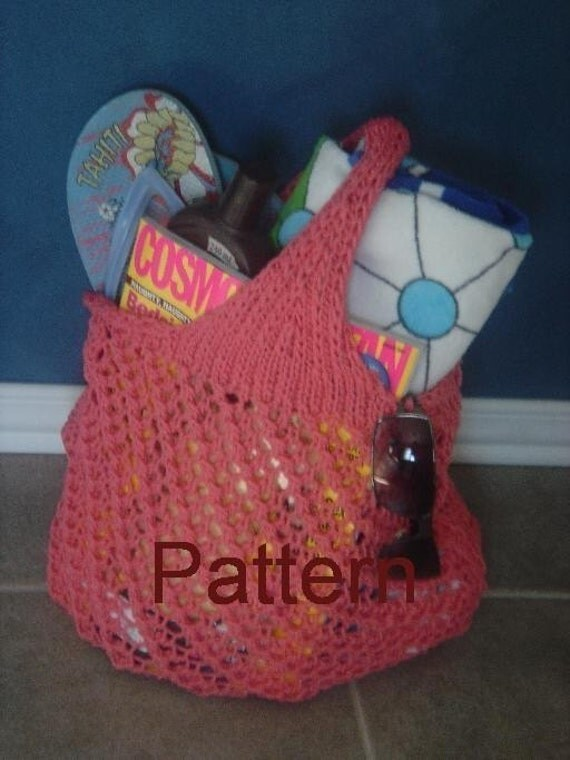 pdf Pattern for Shopping Bag ...Tote Bag ... Beach Bag