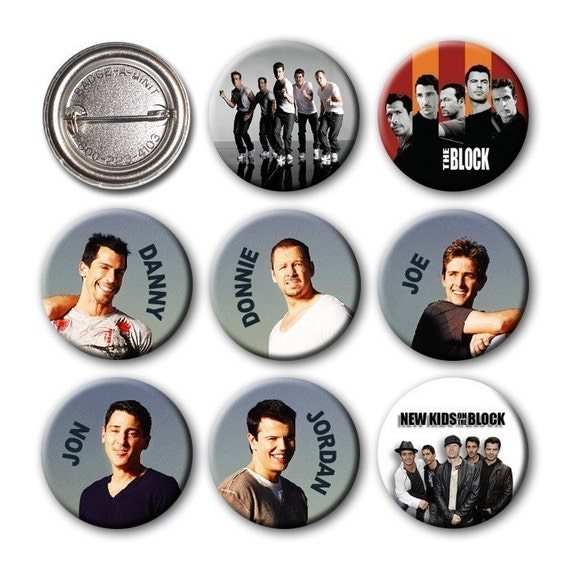 New Kids on the Block - NKOTB - Pinback Buttons (set of 8) no.2