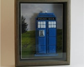 Tardis in Shadow Box - Doctor Who