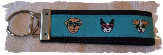 Sassy Dogs Ribbon Key Ring