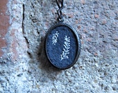 Feathers Necklace Miniature Embroidery