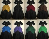 Choose from 17 colors - Full Circle Jagged Skirt choose size and color - Elastic or Drawstring xs s m l xl 2x 3x