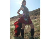 ATHENA Long Length Two Color Add-a-Bustle and Mini Skirt with trim - Choose Size  and Color