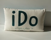 I Do wedding pillow gift custom made with names and dates