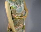 Vintage 60's Avocado Traveling Day Dress