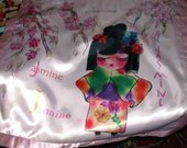 Jazzy Jasmine personalized Charmeuse Baby Blanket by Rosanna Hope For Babybonbons