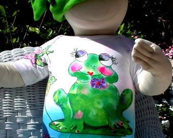 Francine La Froggie Baby Onesie and Toddler Tee shirt by Rosanna Hope for Babybonbons